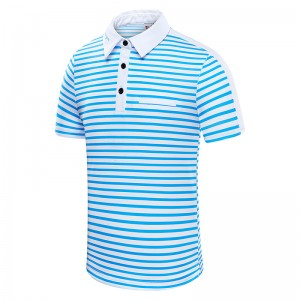 Color Striped Golf Shirt
