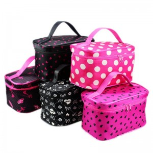 Portable cosmetic bag travel cosmetic storage bag polka dot cosmetic bag