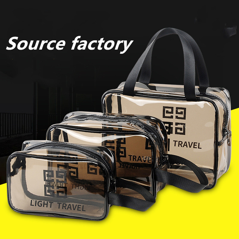 Transparent pvc cosmetic wash bag waterproof portable cosmetic bag beach bag Featured Image