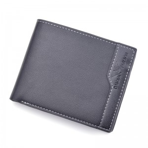 Men's Wallet Men's Short Three-fold Open Wallet New Multi-Card Position