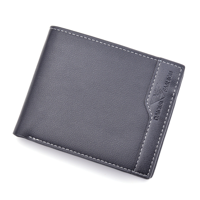 Men's Wallet Men's Short Three-fold Open Wallet New Multi-Card Position Featured Image