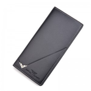 Men's wallet men's long thin section vertical section 3 folding multi-card position large capacity fashion new wallet