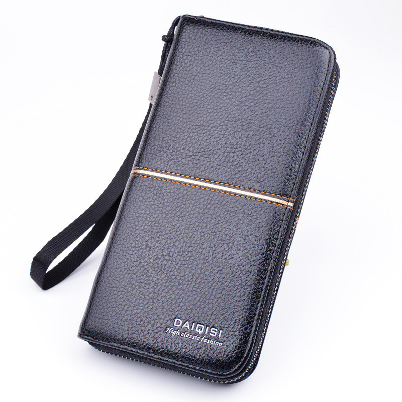 Men's wallet long zipper wallet wallet business casual mobile phone bag Featured Image