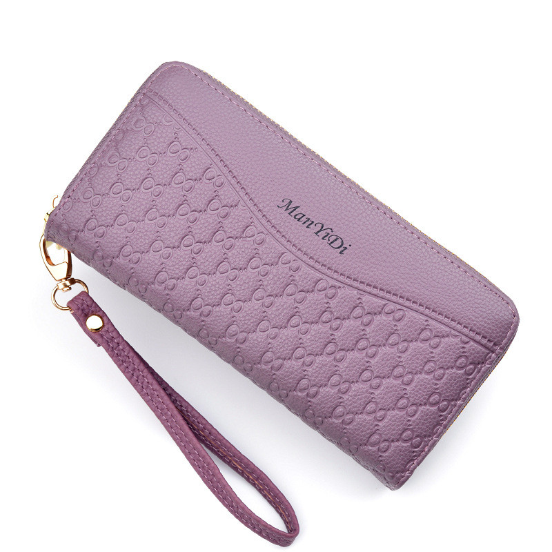 Ladies wallet long section large capacity double zipper clutch wallet female double-layer clutch bag fashion wallet Featured Image