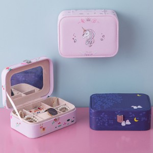 Storage creative portable jewelry storage box