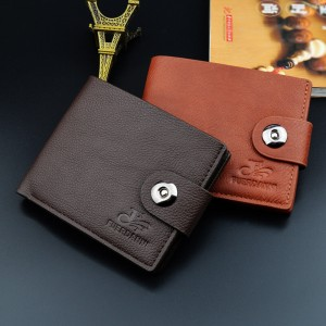 Magnetic short wallet men's short horizontal casual wallet