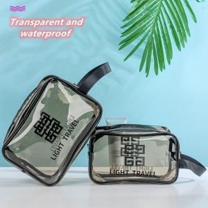 Transparent pvc cosmetic wash bag waterproof portable cosmetic bag beach bag