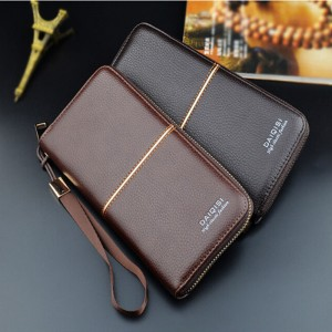 Men's wallet long zipper wallet wallet business casual mobile phone bag