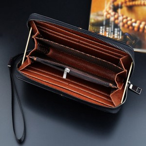 New business clutch bag handbag long zipper clutch bag multi-function men bag