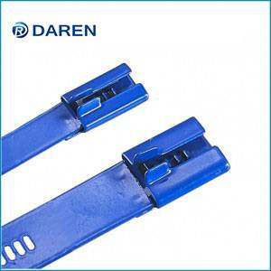 Stainless steel cable Ties-Ladder Multi-Lock Fully polyester Coated Ties