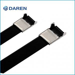 Stainless steel cable Ties-L Type Polyester Coated Ties