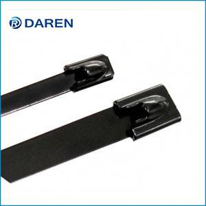 Stainless steel cable Ties-Ball-Lock Fully Polyester coated Ties