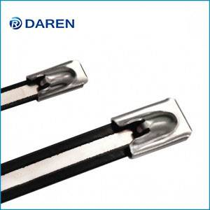 Stainless Steel Cable Ties-Ball-lock Semi-Polyester Coated Ties