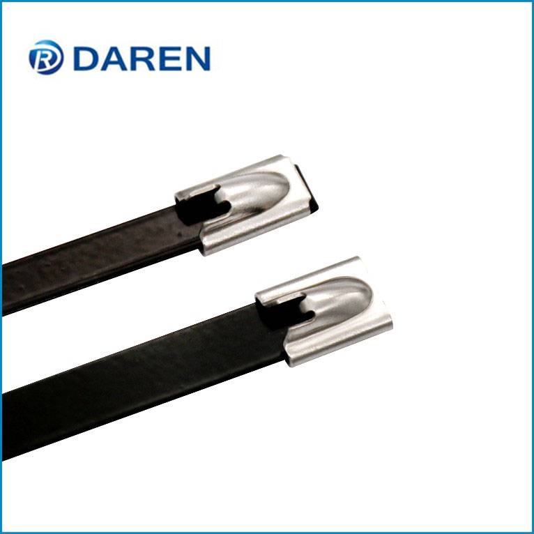 Stainless steel cable Ties-Ball-Lock Polyester Coated Ties
