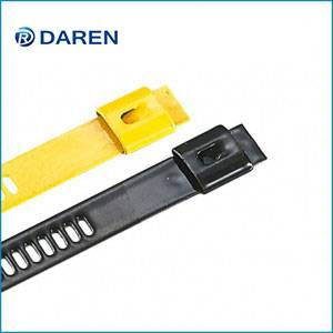 Stainless steel cable Ties-Ladder Single-Lock Fully Polyester Coated Ties