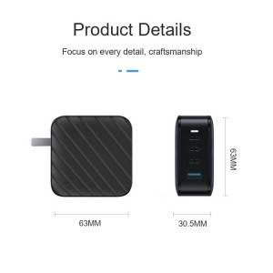 Latest generation portable muti port smart mobile phone charger PD100W