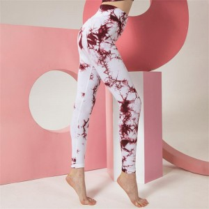 High waist butt lift tie dye seamless leggings for women yoga pants