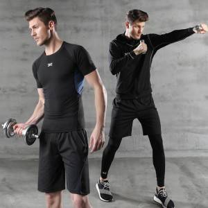 4pcs Sport Workout Outfit Set for men Yoga Fitness Exercise Clothes