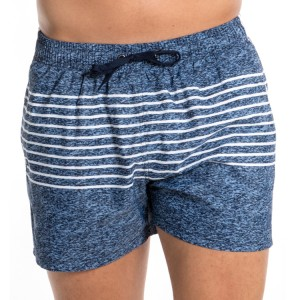 Stamgon Men's Swim Trunks Striped Beach Swim Shorts with Lining