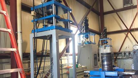 PTFE Plastic Extrusion Machine Install