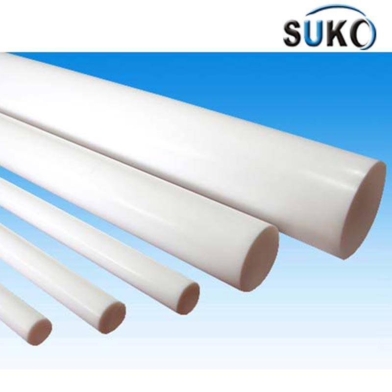 Polymer- PTFE Virgin Plastic Rod 15mm