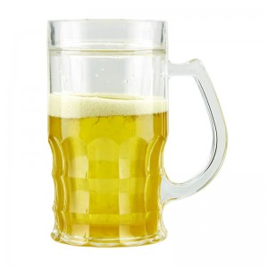 Customized 450ml double wall plastic ice beer cup