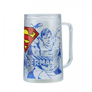 Customized 400ml double wall plastic ice mug