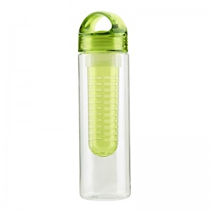 eco-friendly reusable  plastic custom logo water bottle with fruit infuser