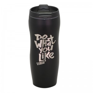 400ml vacuum insulated double wall stainless steel tumbler laser logo printing