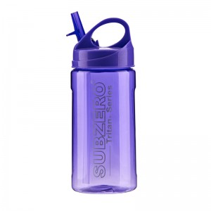 wholesale 100% BPA free 500ml leak-proof plastic sport water bottle with straw