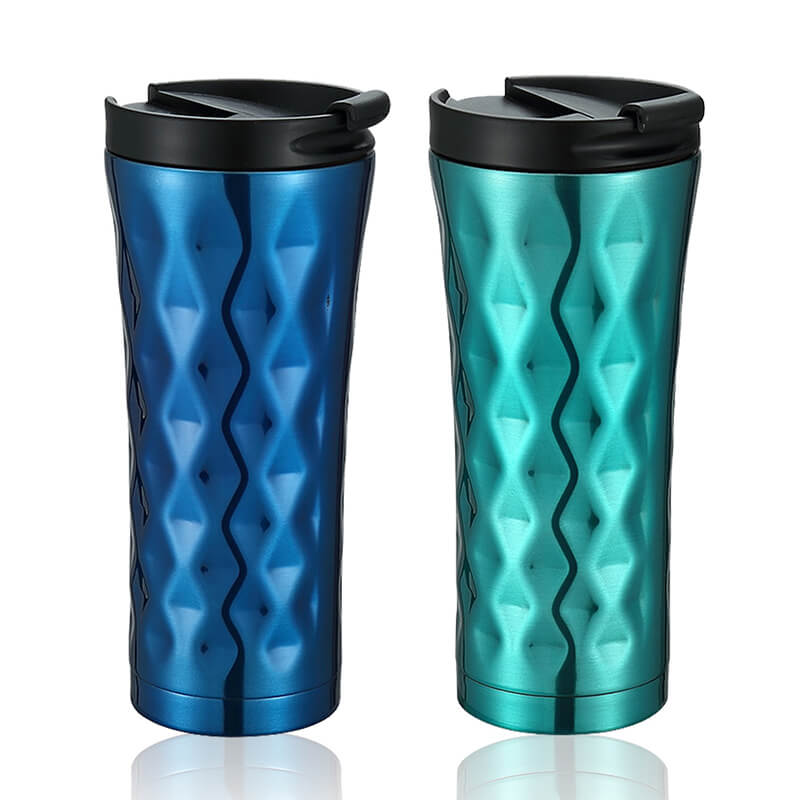 20oz High quality vacuum insulated double wall travel tumbler with lid