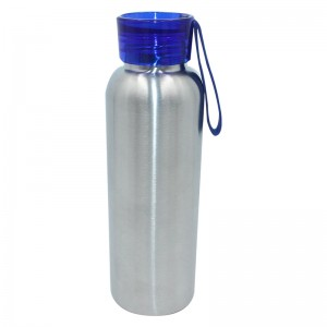 BPA free single wall 304 Stainless steel custom water bottle with rope