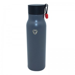 Double wall vacuum insulated wide water bottle with rope