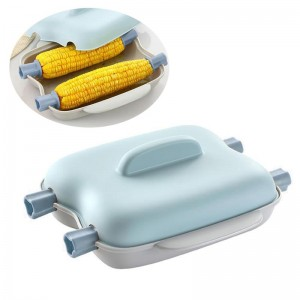 Microwave Corn Steamer Cooker Microwavable Quick 2 Corn Container Easy To Cook Corn Kitchen Gadget