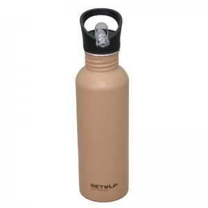 Customized 700ml Sport Aluminum water bottle with straw