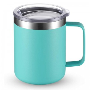 12oz Double Wall Stainless Steel Insulated Coffee Mug with Handle