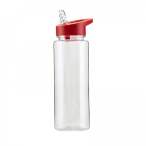 100% BPA free 700ml tritan water bottle with straw custom logo