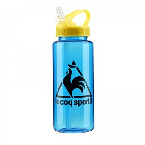 Customized 100% BPA free 650ml leak-proof tritan sport water bottle with straw