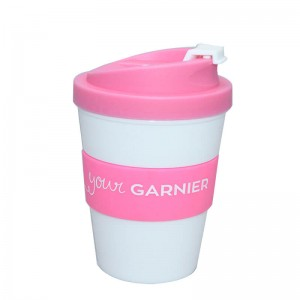 wholesale 250ml travel coffee mug with silicone sleeve