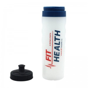 Sports and Fitness Squeeze Pull Top Leak Proof Drink Spout Water Bottles BPA Free customized logo