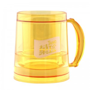 Customized 200ml double wall plastic ice beer mug