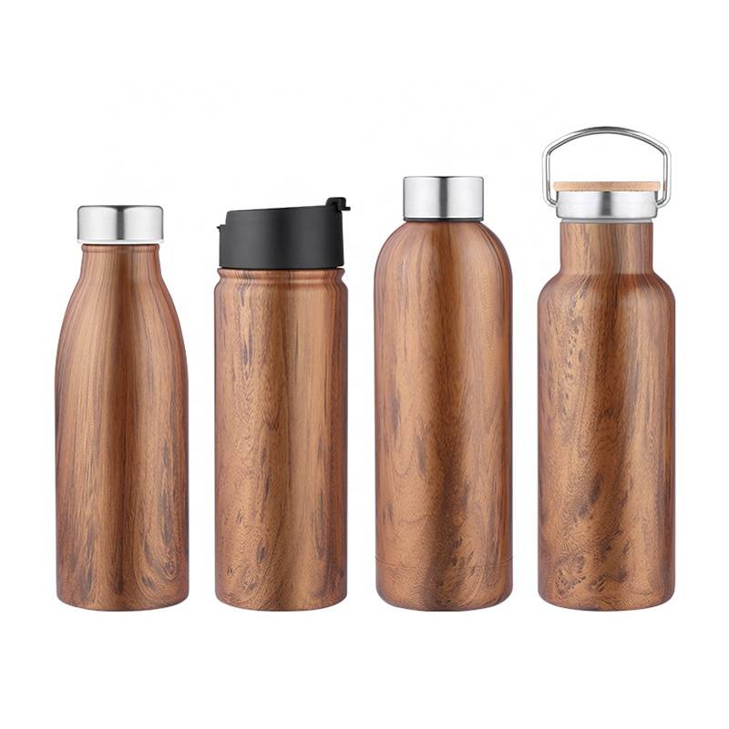 Double wall vacuum insulated wide mouth steel water bottle