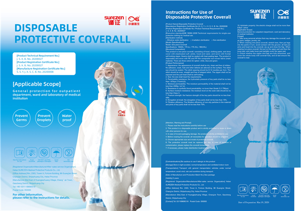 Protective coverall with heat-sealing tape