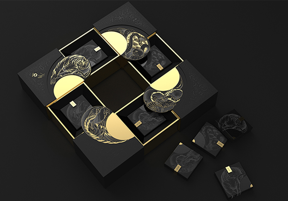 Dianhong Four Beasts Tea PR Gift Packaging