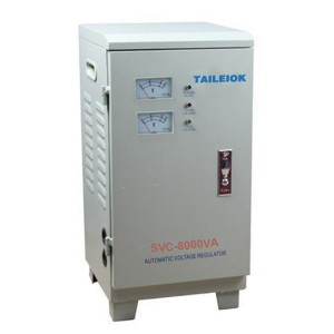 SVC-8KVA Single Phase Servo Type Voltage Stabilizer LCD Meter