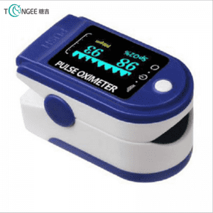 Portable fingertip pulse oximeter for household use