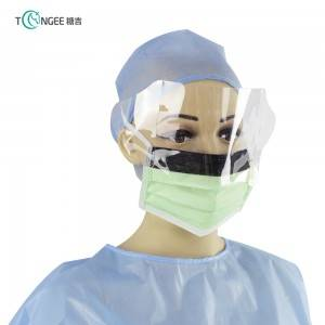 Tongee new products safety face shield visors protective eye face shield with mask