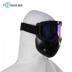 Fashion goggle mask motorcycle, goggle mask for outdoor, hotsale google mask detachable