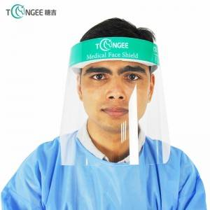 Stable performance hat transparent panel isolation face shield