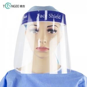 Tongee Adult Plastic Protective Transparent Safety Glasses Face Shields